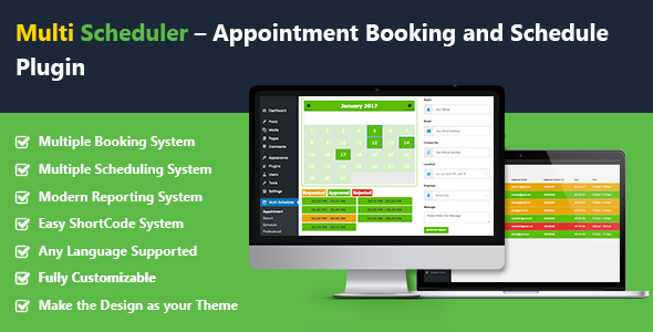 Download Multi Scheduler – Appointment Booking and Schedule with Multi Booking Plugin nulled download