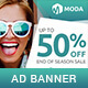 Moda - Fashion Sales PSD Banner Template