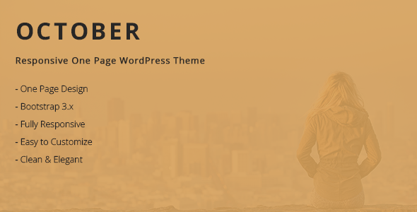 Download October - Responsive One Page WordPress Theme