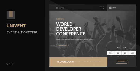 Univent | Event Landing Page & Ticketing