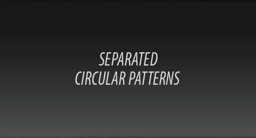 Circular Mesh Separated Patterns