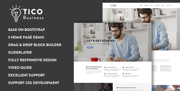 01 preview.  large preview - Tico - Responsive Business Drupal 8 Theme