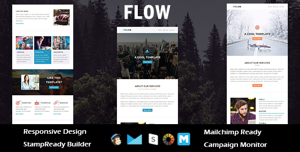 Download Flow - Multipurpose Responsive Email Template + Stampready Builder nulled download