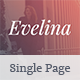 Evelina - Responsive One Page HTML Template for Actor / Model Portfolio