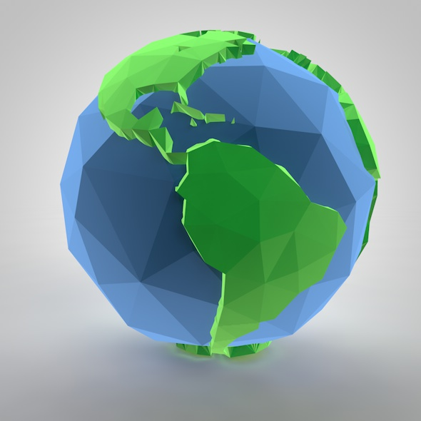 Low-poly Earth - 3DOcean Item for Sale
