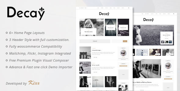 Download Decay - A Responsive Personal Blog WordPress Theme nulled download