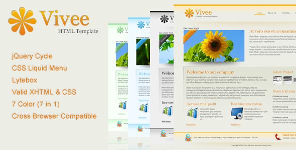 Vivee - Clean Business Web Template - 7 Color