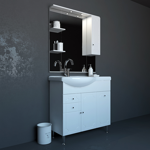 Sink with pedestal - 3DOcean Item for Sale