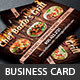 Chef Catering Business Card Template