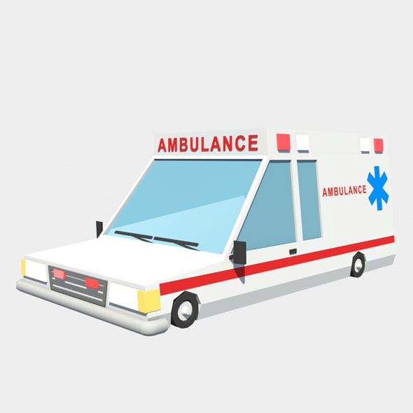 ambulance car - 3DOcean Item for Sale
