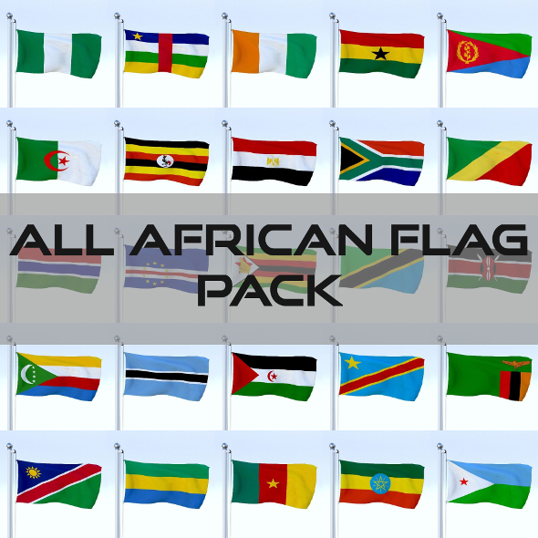 All African Flag Pack - 3DOcean Item for Sale