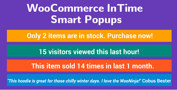 WooCommerce InTime Smart Popups - CodeCanyon Item for Sale