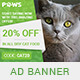 Paws - Pet Store PSD Banner Template