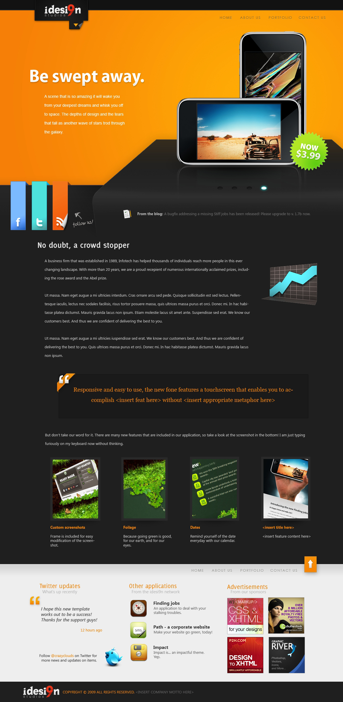 Stage -- a PSD template