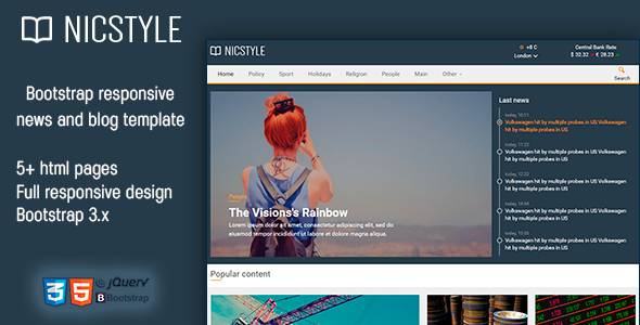 Nicstyle - News Template