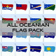 All Oceanian Flag Pack