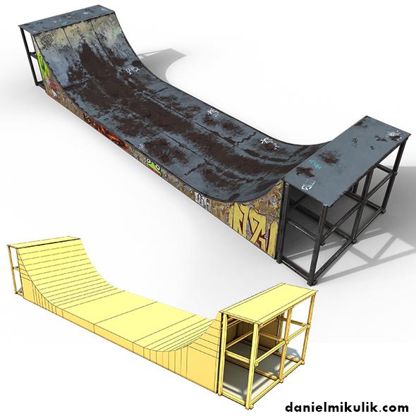 Huge Skate Pipe PBR Textures - 3DOcean Item for Sale
