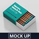 Square Match Box Mockup