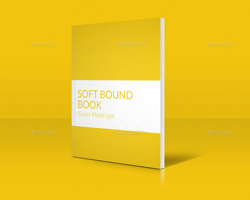 Book Cover Graphicriver : Soft bound book cover mock ups by bonirving graphicriver