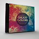 Galaxy Colors CD/DVD Template