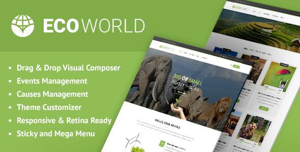 Eco World - Nature, Ecology & NGO WordPress Theme