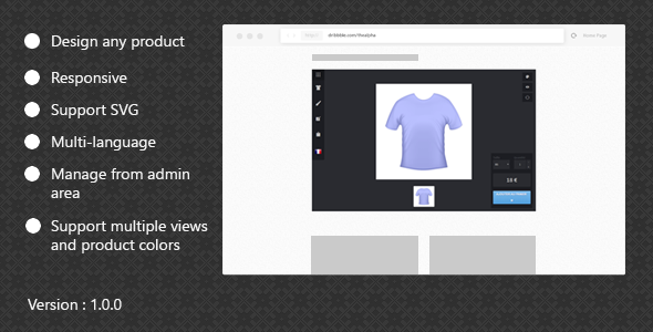 Download Custom products designer for woocommerce nulled download