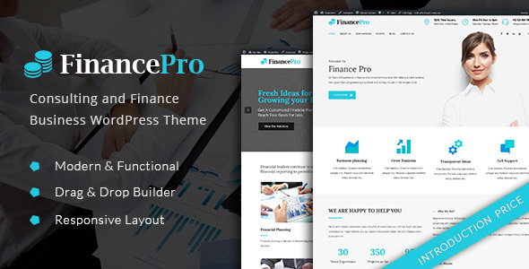 FinancePro - Consulting and Finance Business WordPress Theme (Corporate) FinancePro - Consulting and Finance Business WordPress Theme (Corporate) 01 preview