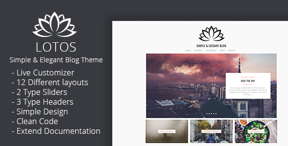 Download Lotos - Simple Blog Theme nulled download