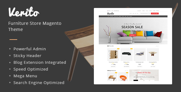 Verito - Furniture Store Responsive Magento Theme