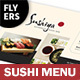 Sushi Bar Menu Flyers – 4 Options
