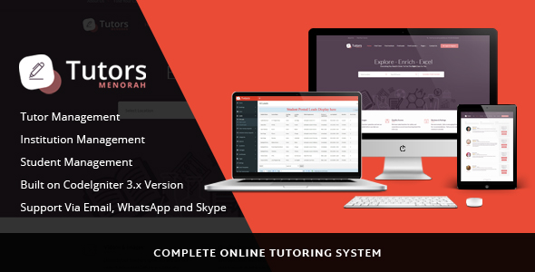 Download MinorahTutors - Online Tutoring Script nulled download