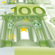 Banknotes of One Hundred Euros Detail