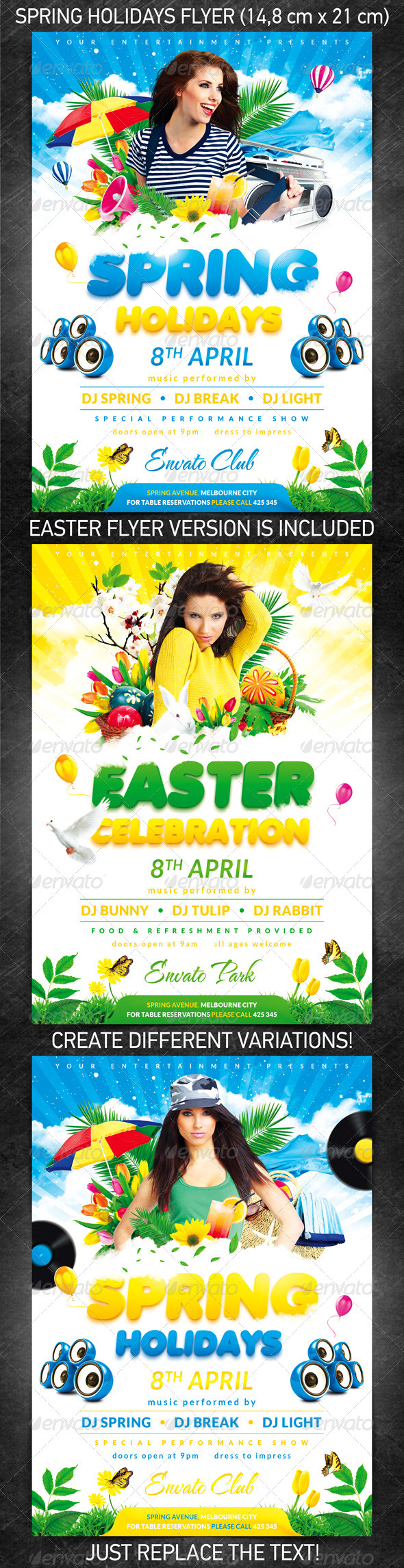 Spring Holidays/Easter Celebration Party Flyer - Flyers Print Templates