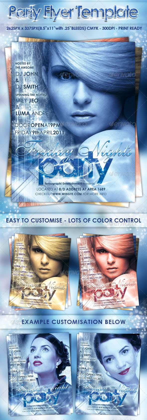 GraphicRiver Party Flyer Template 232943
