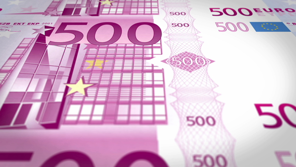 VideoHive Five Hundred Euros Banknotes 19273653