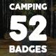 52 Camping Logos + 20 Icons.Bundle