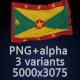 Flag of Grenada - 3 Variants