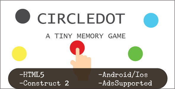 Download CircleDot (HTML5 Game + Construct 2 CAPX) nulled download