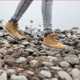 Footstep Gravel Rocks Sneakers Walking Single Steps