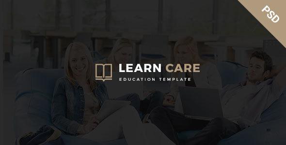 LearnCare- Educational PSD Template