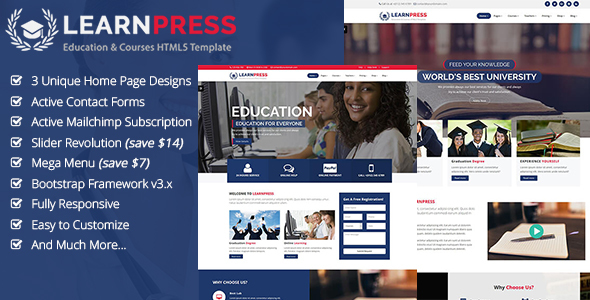 Download LearnPress | Education & Courses HTML Template
