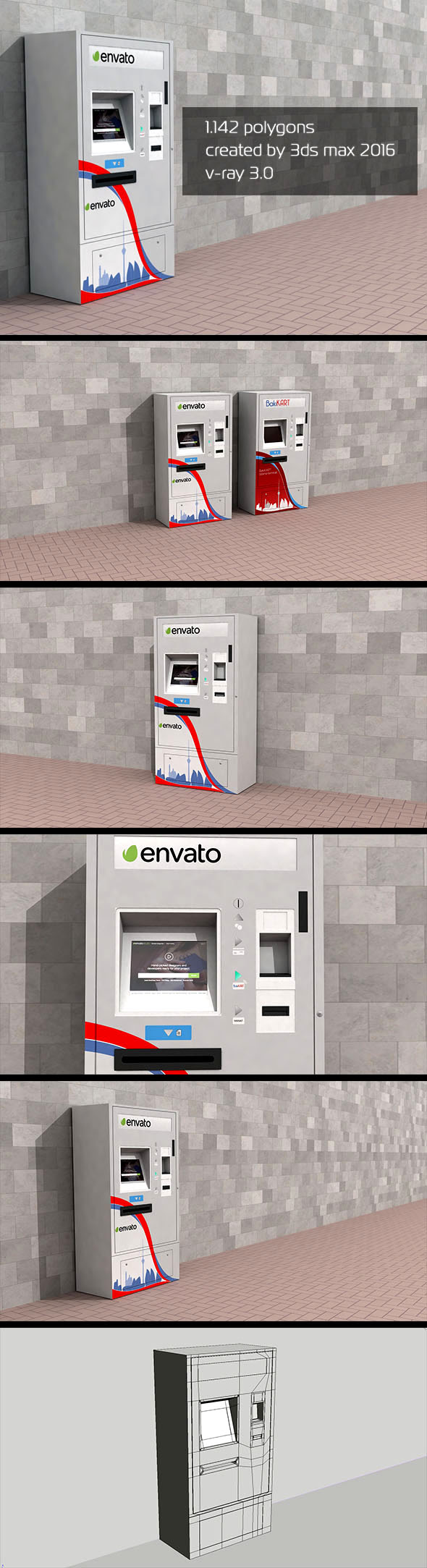 3D ATM Machine - Outdoor 2 - 3DOcean Item for Sale