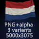 Flag of The Netherlands - 3 Variants