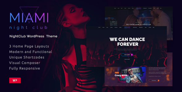 Download Miami- Night Club Responsive WordPress Theme nulled download