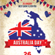 Australia Day Party Flyer