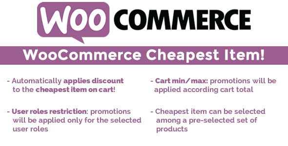 WooCommerce Least expensive Item! (Goods)