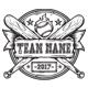 Grunge Basebal Team T-shirt