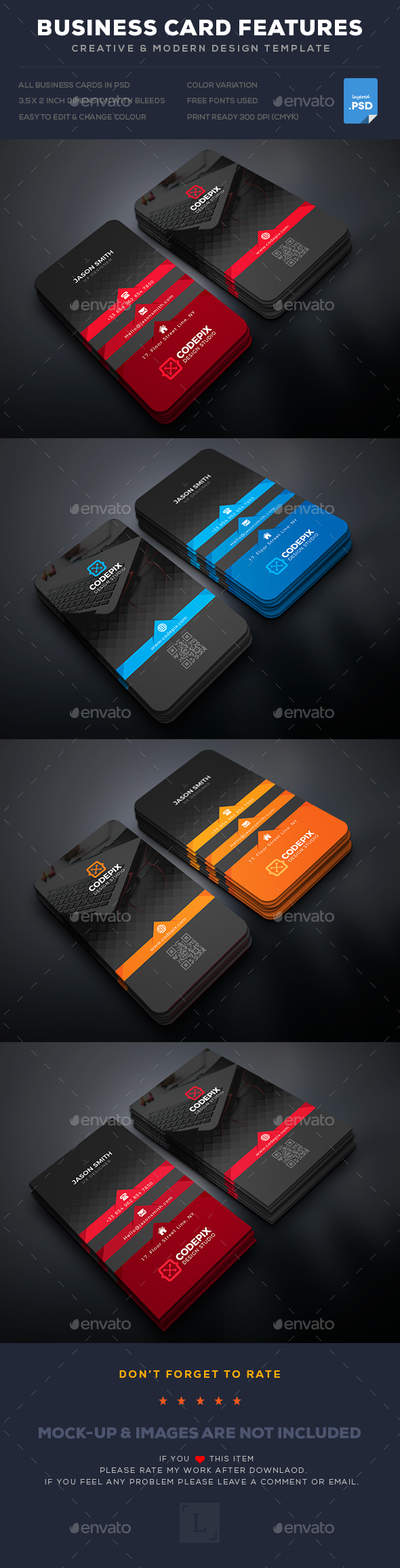 Graphicriver Business Cards 19275508 torrent
