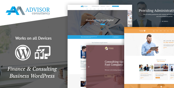 Advisor Consulting, Business, Finance WordPress Theme
