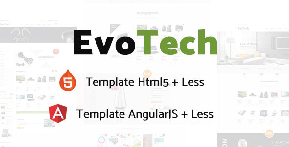 Image of EvoTech - Electronics eCommerce HTML Template